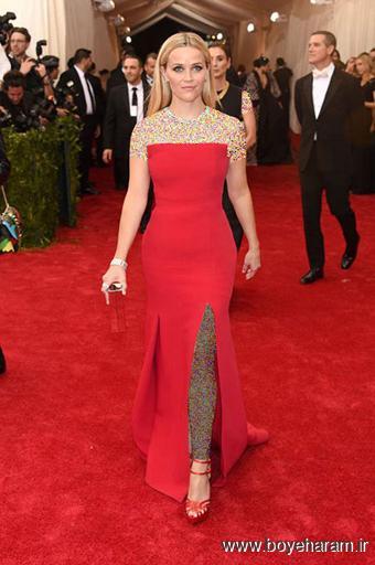 Reese Witherspoon در مراسم مت گالا Met Gala 2015