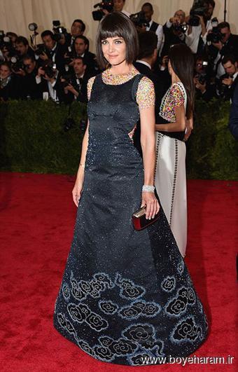 Katie Holmes در مراسم مت گالا Met Gala 2015