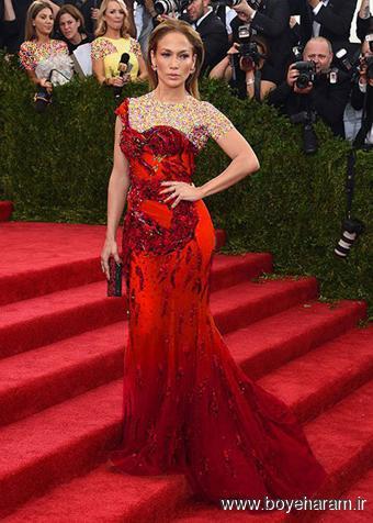 Jeniifer Lopez در مراسم مت گالا Met Gala  2015