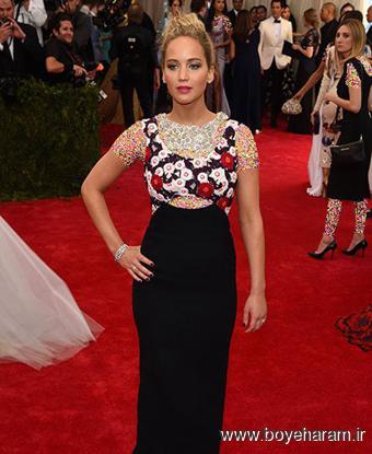 Jennifer Lawrence در مراسم مت گالا Met Gala 2015