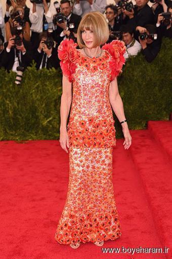 Anna Wintour در مراسم مت گالا Met Gala 2015
