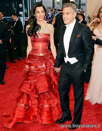 Amal Clooney و George Clooney در مراسم مت گالا Met Gala 2015