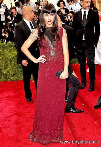 Adriana Lima در مراسم مت گالا Met Gala 2015