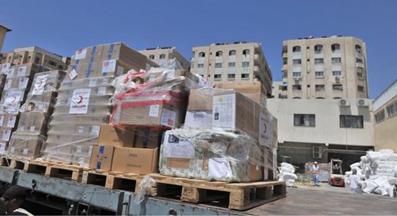 اخبار,کمک های مردمی به غزه,کامیون های حامل کالا وارد غزه میشوند
