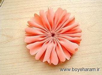سایت گل سازی,ساخت گل با روبان,آموزش گل های روبانی