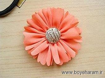 آموزش گل سازی,ساخت گل,ساخت گل پارچه ای