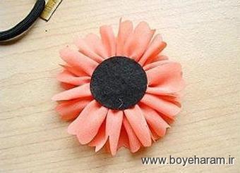 آموزش گلسازی با روبان,ساخت گل رز,ساخت گل مریم