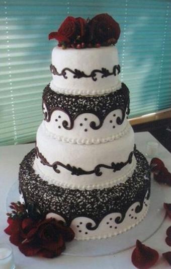 کیک عروس,آموزش پخت کیک عروس,تصاویر کیک عروس
