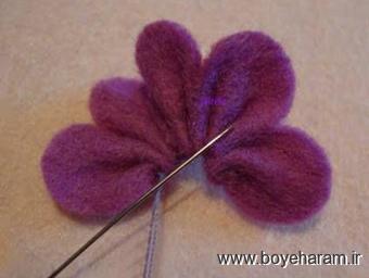 ساخت تل و گل سر,آموزش تل سازی,آموزش گل سر سازی