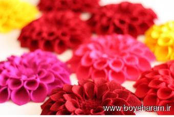 آموزش گلسازی,ساخت گل نمدی,ساخت گل پارچه ای