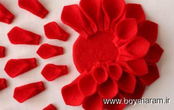 ساخت گل,آموزش گل افتابگردان