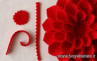 ساخت گل,گلسازی,ساخت گل با پارچه,آموزش گلسازی پارچه ای