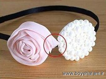 ساخت تل,ساخت گل سر,ساخت تل دخترانه,ساخت گل سر دخترانه,آموزش گل سر سازی,آموزش تل سر سازی