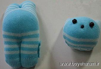 ساخت عروسک های جورابی,ساخت عروسک با جوراب