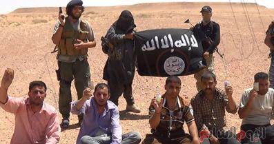 اعدام,اعدام فلسطینی ها,اعدام داعشی ها,داعش اوارگان فلسطینی را اعدام کرد