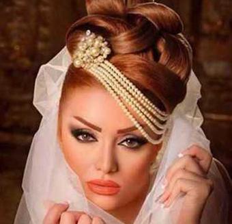 آرایش موی عروس,آرایش چشم عروس,آرایش صورت عروس