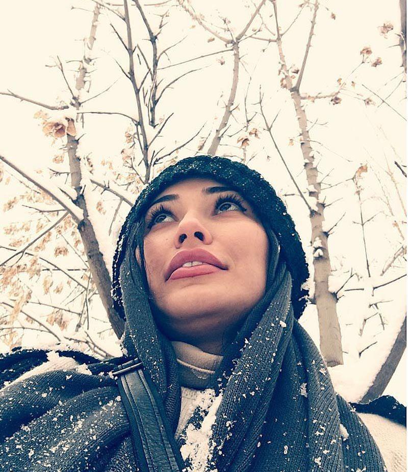 جدیدترین عکس های بازیگران,تصاویر بازیگران زن در زمستان