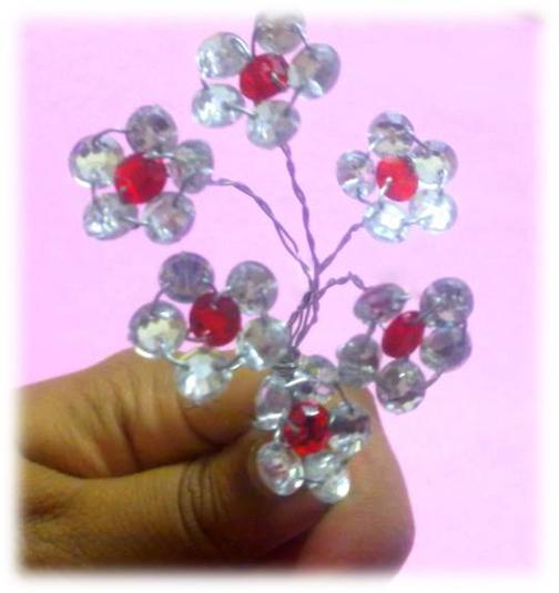 آموزش گل های کریستالی,آموزش گلهای کریستالی