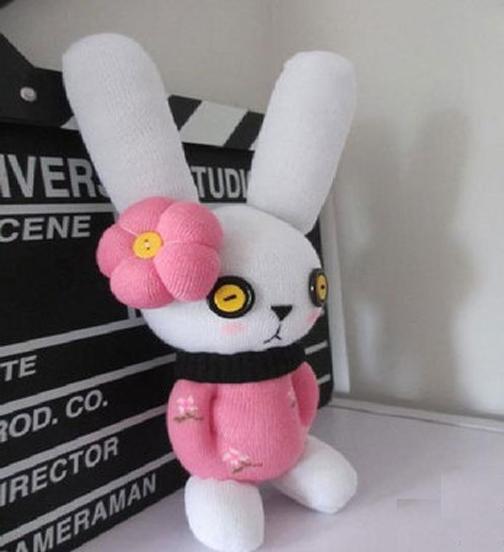 آموزش ساخت عروسک خرگوش با جوراب,روش ساخت عروسک خرگوش با جوراب