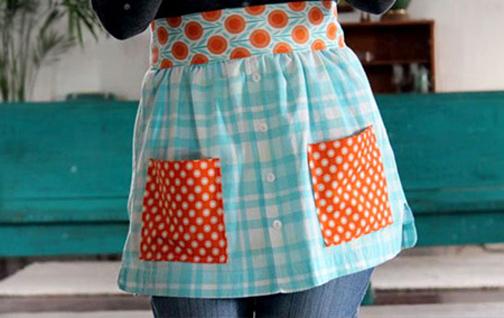 الگوی دوخت پیش بند,آموزش دوخت پیشبند برای آشپزخانه