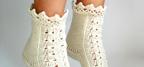 آموزش بافت جوراب و پاپوش بافتنی زیبا