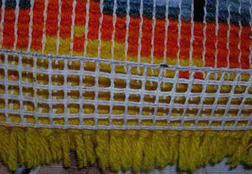 ساخت پادری به صورت جدول بافی با کاموا