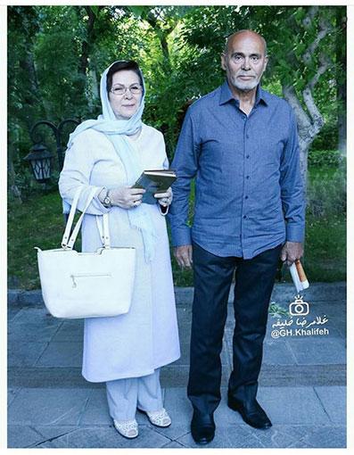 جمشید هاشمپور به همراه همسر عزیزش