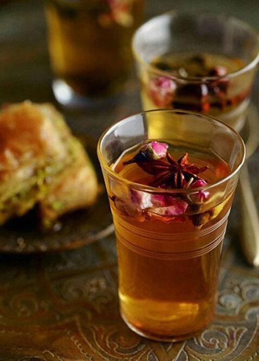 پخت انواع غذا,تزئینات آشپزی,آموزش تزئینات آشپزی,تزئین چایی