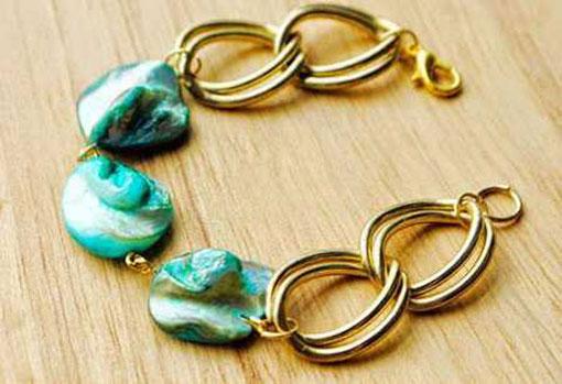 آموزش ساخت دستبند ساده,روش ساخت دستبند ساده,ساخت دستبند با سنگ فانتزی