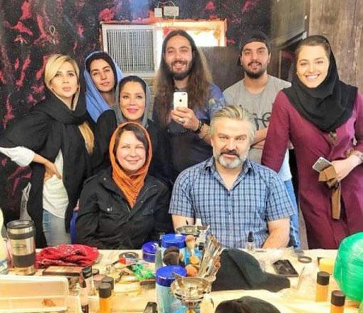 عکس خانوادگی بازیگران