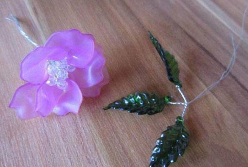 آموزش درست کردن گل کریستالی,ساخت گل شیشه ای,روش ساخت گل شیشه ای