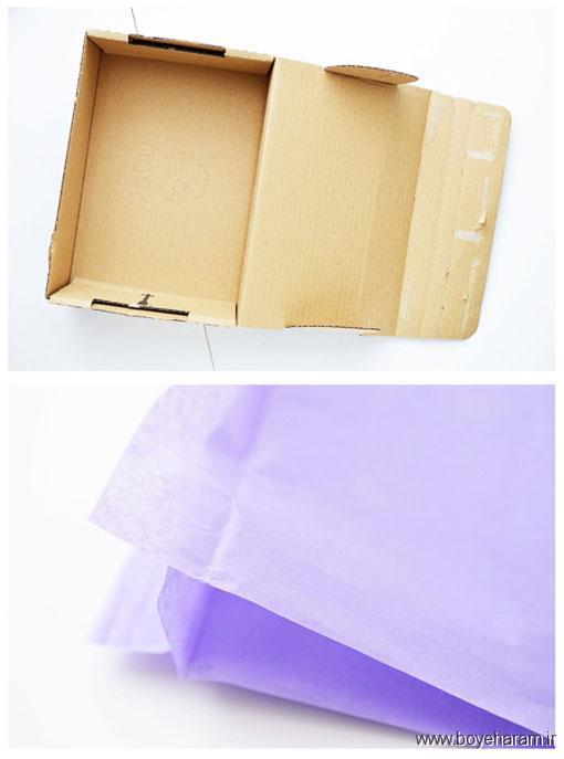 آموزش ساخت جعبه هدیه,تزئین جعبه هدیه,تزئین قوطی هدیه