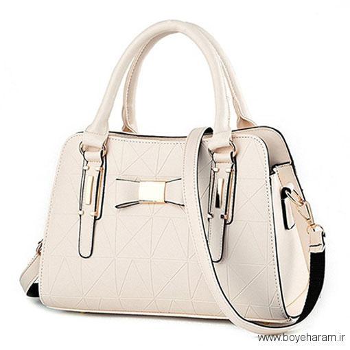 مدل کیف چرم زنانه سفید,جدیدترین مدل های کیف زنانه