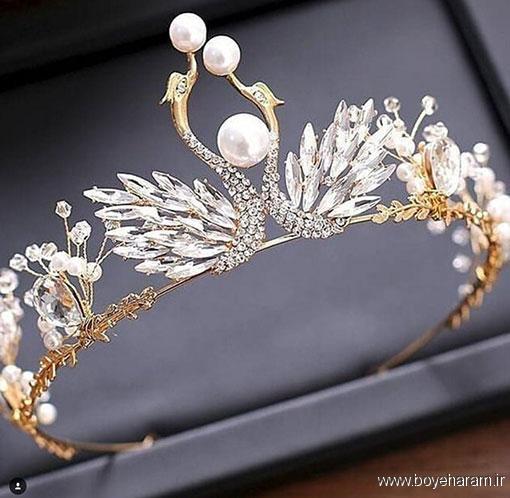 مدل و دکوراسیون,سایت مدل و دکوراسیون,مدل طلا و جواهرات,جدیدترین مدل تاج عروس کریستالی