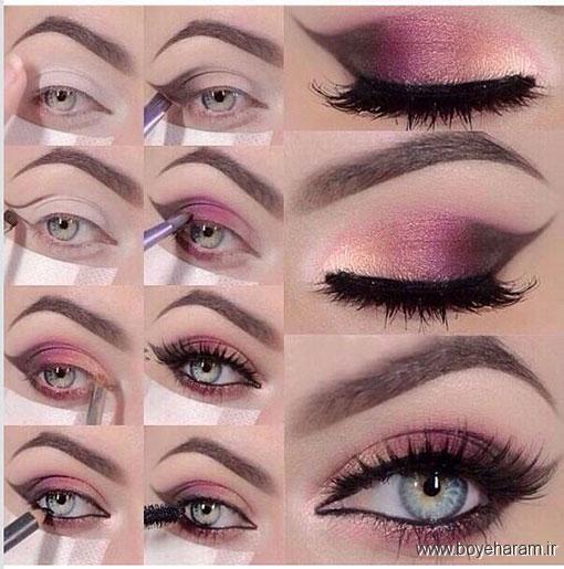 مدل آرایش چشم,آموزش آرایش چشم,آموزش میکاپ چشم