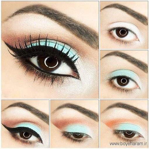 قشنگترین چشم ها,آموزش گام به گام میکاپ چشم,آموزش بروزترین مدل های آرایش چشم,آموزش آرایش اروپایی