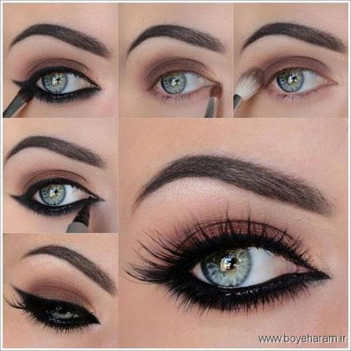 مدل آرایشی چشم,مدل آرایشی چشم طاووسی,چشم طاووسی