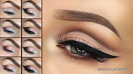 مدل های آرایش چشم طاووسی,آموزش آرایش چشم طاووسی,مدل های آرایش چشم,آرایش چشم