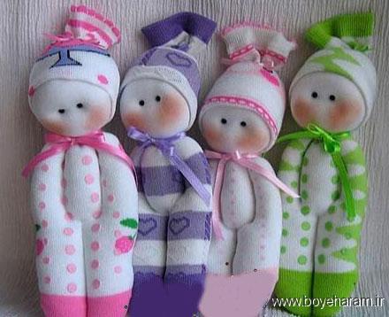ساخت عروسک با جوراب,روش ساخت عروسک با جوراب
