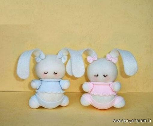 ساخت عروسک خرگوش,ساخت خرگوش با جوراب