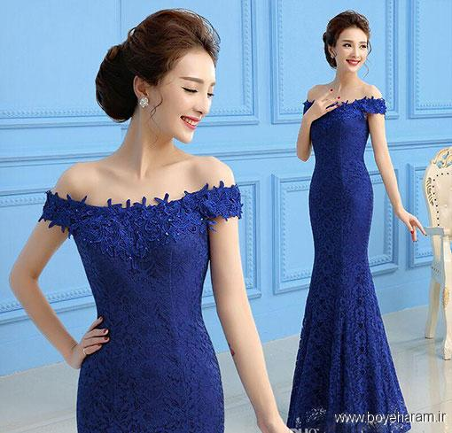 خوشکلترین مدل های لباس مجلسی دامن نیلوفری,آموزش دوخت لباس مجلسی دامن نیلوفری زنانه