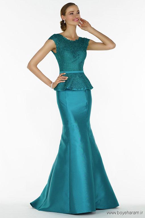 مدل لباس مجلسی دامن نیلوفری,لباس مجلسی زنانه,جدیدترین مدل های لباس مجلسی دامن نیلوفری