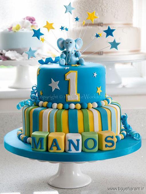 عکس کیک تولد,پخت کیک تولد,مدل جدید کیک تولدبا روکش فوندانت,کیک تو