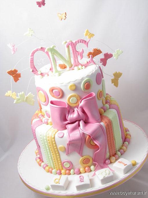 مدل جدید کیک تولدبا روکش فوندانت,کیک تولد,پخت کیک عروس,مدل های کیک تولدبا روکش فوندانت