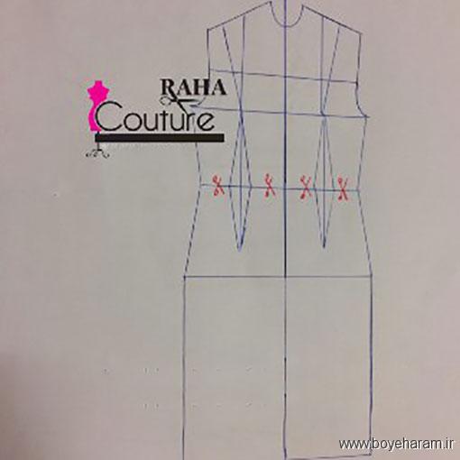 چگونه لباس مجلسی ریون بدوزیم,آموزش روش دوخت لباس مجلسی ,