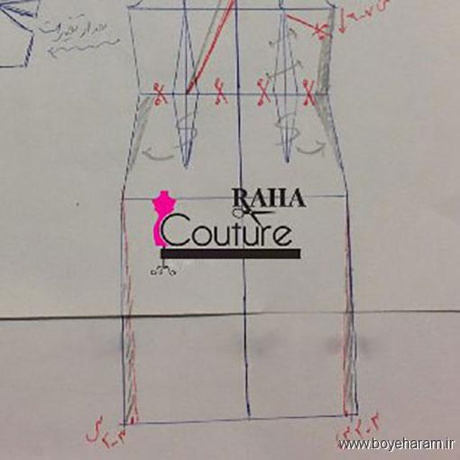 آموزش دوخت لباس مجلسی,الگوی دوخت لباس مجلسی,روش دوخت لباس مجلسی