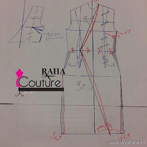 روش دوخت لباس مجلسی,دوخت انواع لباس مجلسی,مدل لباس مجلسی ریون,آموزش تصویری دوخت لباس مجلسی یقه چپ راستی