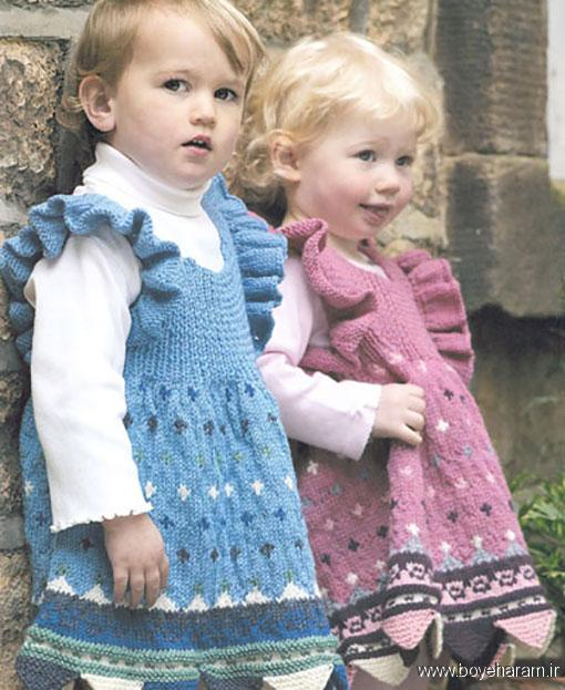 مدل های بافتنی بچه گانه,جدیدترین مدل لباس بافتنی,آموزش بافت لباس بچه گانه