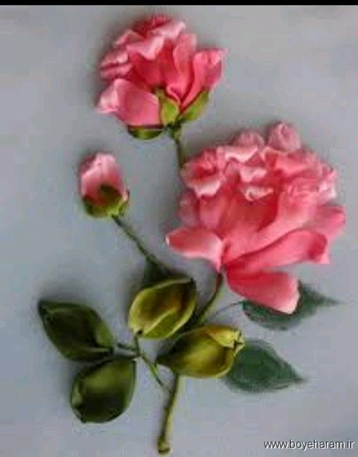 تابلو روبان دوزی,گل روبانی,ساخت تابلو,تابلو روبان دوزی,مدل تابلو گلدوزی شده,آموزش درست کردن تابلو روبان