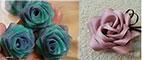 آموزش تصویری چند نوع گل رز روبانی